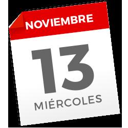 Miércoles, 13 de noviembre de 2019