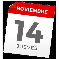 Jueves, 14 de noviembre de 2019